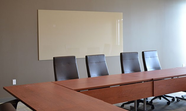 We installed this custom Glassboard in a University of Mary Hardin-Baylor board room.