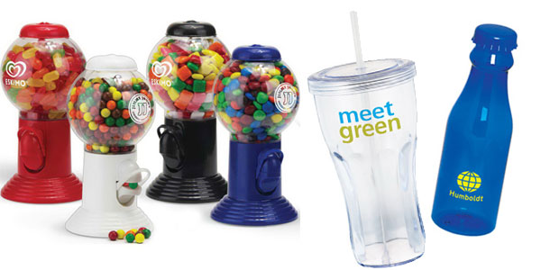 Retro Promotional Products - Gumball machine soda fountain cup water bottle