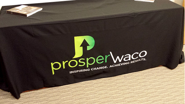 Prosper Waco Imprinted Table Throw