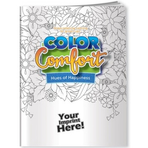 Adult Coloring Book with Imprint Space for Your Logo