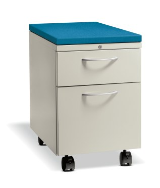 HON Flagship Mobile Pedestal with Seat Cushion Top